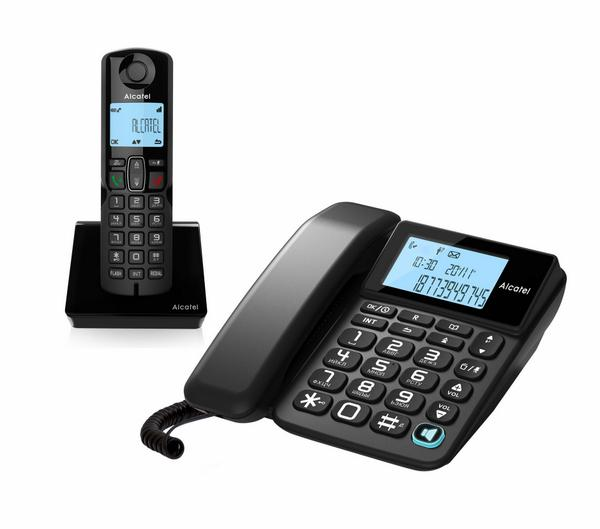 Радиотелефон DECT Alcatel S250 Combo Black