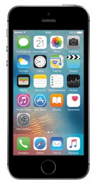 Смартфон Apple iPhone SE (MLM62RU/A) 64Gb Space Gray
